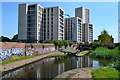 SP0887 : New construction overlooking the canal at Nechells Green by David Martin