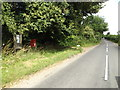 TM0479 : B1113 Redgrave Road & Chequers Lane Postbox by Adrian Cable