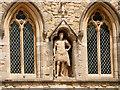 SU4111 : George III Statue on Southampton Bar Gate by David Dixon