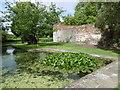 TQ4274 : Eltham Palace moat by Marathon