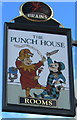 SO5012 : The Punch House name sign, Monmouth by Jaggery