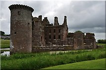 NY0265 : Caerlaverock Castle with the still standing Murdoch's Tower by Michael Garlick