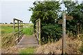 SE7726 : Footbridge of Skelton Broad Lane by Ian S