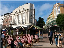 SZ0891 : Bournemouth: open-air music in The Square by Chris Downer