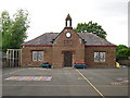 NY4459 : Crosby-on-Eden School, original building by Rose and Trev Clough