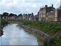 TF4509 : The River Nene and North Brink in Wisbech by Richard Humphrey