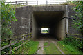 SE8129 : Footpath under the M62 at Carter's Plantation by Ian S