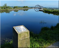 NS8579 : Plaque at the top of the Falkirk Wheel by Mat Fascione
