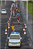 SX9265 : Torquay : Babbacombe Model Village - Cyclists by Lewis Clarke