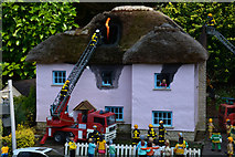 SX9265 : Torquay : Babbacombe Model Village - Fire Scene by Lewis Clarke