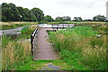 NY1961 : Pond with dipping platform, Campfield Marsh nature reserve by Rose and Trev Clough