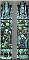 TL6860 : St Mary & the Holy Host of Heaven, Cheveley - Stained glass window by John Salmon