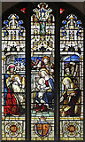 TL5646 : St Mary, Linton - Stained glass window by John Salmon