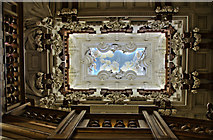 SK8932 : Looking up the Cedar Staircase, Harlaxton Manor by Julian P Guffogg