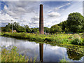 SD7912 : Canoe Training Pool and Burrs Mill Chimney by David Dixon