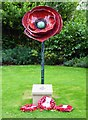 SO8454 : Poppy Sculpture (1), Cripplegate Park, New Road, Worcester by P L Chadwick