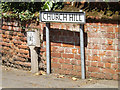 TM0688 : Church Hill sign by Adrian Cable