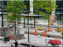 SJ8397 : Construction of New Tram Stop at St Peter's Square (August 2016) by David Dixon