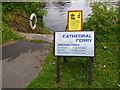 SO8454 : Cathedral Ferry notice, Bromwich Parade, Worcester by P L Chadwick