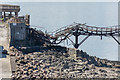 ST3062 : Birnbeck Pier's collapsed span by Oliver Mills