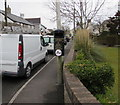 SS8377 : Litter bin, Newton Nottage Road, Porthcawl by Jaggery
