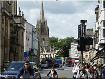 SP5106 : Oxford High Street with Spire of University Church by Steve Barnes