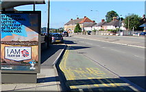 ST3090 : Olympic Games themed advert on a Malpas Road bus shelter, Newport by Jaggery