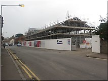 NT9953 : New office building under construction, Walkergate, Berwick-upon-Tweed by Graham Robson
