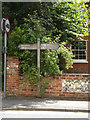 TM0375 : Signpost on The Street by Adrian Cable