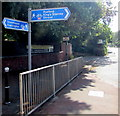 SO8004 : National Cycle Route 45 signpost, Bristol Road, Stonehouse by Jaggery