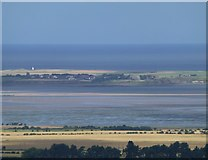 NU1241 : Holy Island from Fawcet Hill across Fenham Flats by Russel Wills