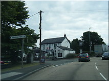 SO3204 : A4042 Usk Road at Goytre Arms by Colin Pyle