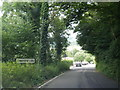 SS8589 : Llan Road at Cwmfelin village boundary by Colin Pyle