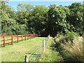 SU9485 : Public footpath into Dorney Wood by David Hawgood