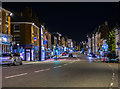 SK3516 : Ashby Market Street at night by Oliver Mills