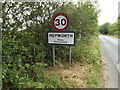 TL9874 : Hepworth Village Name sign on The Street by Adrian Cable