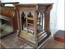 TM2692 : St. Margaret, Topcroft: prayer desk by Basher Eyre