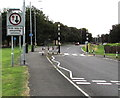 ST2985 : Give way to oncoming vehicles, Duffryn Drive, Newport by Jaggery