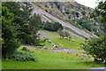 SH6670 : Scree slopes by Rhaeadr-fawr by David Martin