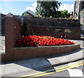 ST3188 : Red flowers near the First World War Memorial, Newport by Jaggery