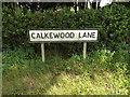 TM0175 : Calkewood Lane sign by Geographer