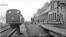 NZ3766 : Westoe Lane station, South Shields, Marsden & Whitburn Colliery Railway on Last Day, 1953 by Walter Dendy, deceased