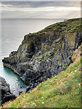 NW9954 : Cliff near Portpatrick by David Dixon