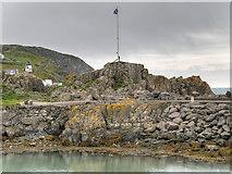 NW9954 : Portpatrick Harbour, The Dorn Rock by David Dixon