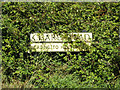 TL9674 : Chare Road sign by Adrian Cable