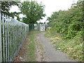 TR1559 : Path to a railway foot crossing by Marathon