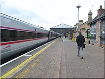 J0407 : The Dublin-bound Enterprise standing at Platform 1, Dundalk Clarke Station by Eric Jones