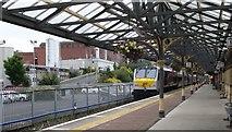 J0407 : Enterprise train departing Dundalk Clarke for Dublin Connolly by Eric Jones