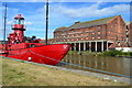 """SO8217 : Derelict warehouse and """"Sula"""" lightship at Gloucester Docks by David Martin"""