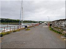 NX1336 : Looking along Drummore Harbour Pier by David Dixon